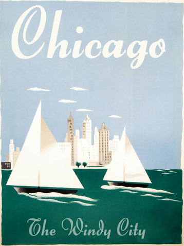 Chicago - The Windy City -  Vintage Sophie - McGaw Graphics