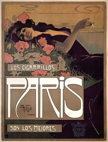 Paris Cigarettes, 1901 -  Vintage Sophie - McGaw Graphics