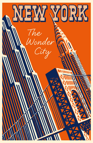 New York - The Wonder City -  Vintage Sophie - McGaw Graphics