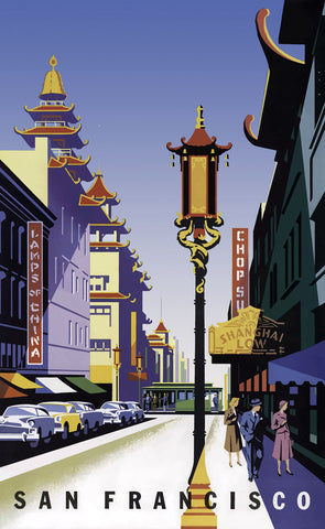 San Francisco - Chinatown -  Vintage Sophie - McGaw Graphics