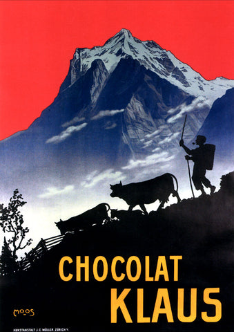 Chocolat Klaus Mountains Switzerland, 1910 -  Vintage Sophie - McGaw Graphics