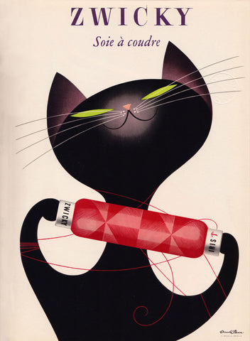 Zwicky - Black Cat -  Vintage Sophie - McGaw Graphics