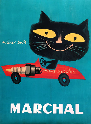 Marchal - Black Cat -  Vintage Sophie - McGaw Graphics