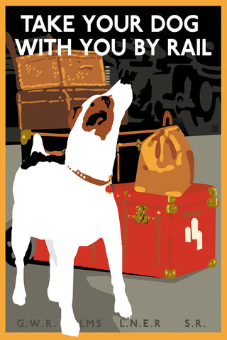Take Your Dog By Rail -  Vintage Sophie - McGaw Graphics