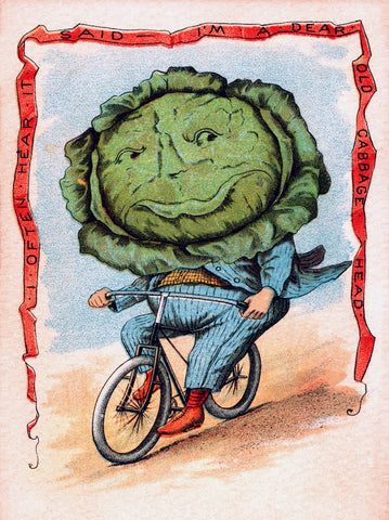 Cabbage on Bike -  Vintage Sophie - McGaw Graphics
