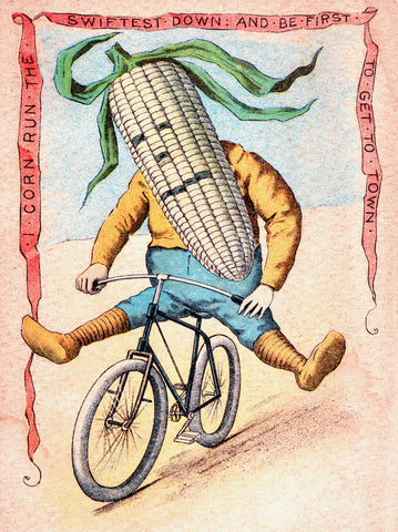 Corn on Bike -  Vintage Sophie - McGaw Graphics