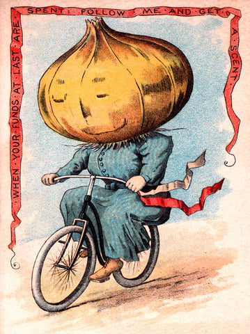 Onion on Bike -  Vintage Sophie - McGaw Graphics