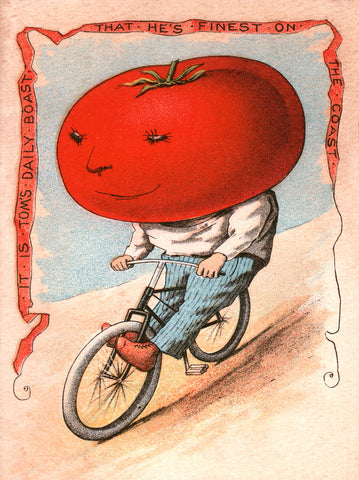 Tomato on Bike -  Vintage Sophie - McGaw Graphics