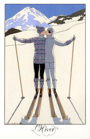 Kissing Ski -  Vintage Sophie - McGaw Graphics