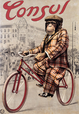 Consul Monkey Bicycle -  Vintage Sophie - McGaw Graphics