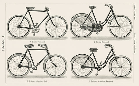 Bicycles (Fahrrader 1), 1894 - McGaw Graphics