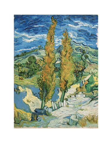 The Poplars at Saint-Rémy, 1889 -  Vincent van Gogh - McGaw Graphics