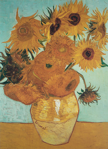 Vincent van Gogh - Sunflowers on Blue, 1888