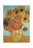 Sunflowers on Blue, 1888 -  Vincent van Gogh - McGaw Graphics
