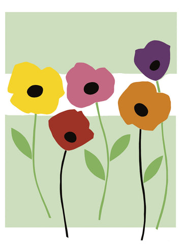 Perky Poppies -  Muriel Verger - McGaw Graphics