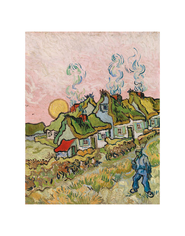 House and Figure, 1890 -  Vincent van Gogh - McGaw Graphics