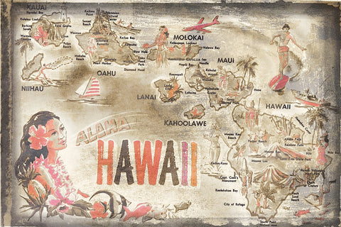 Aloha Hawaii -  Vintage Vacation - McGaw Graphics