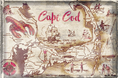 Cape Cod Holiday -  Vintage Vacation - McGaw Graphics