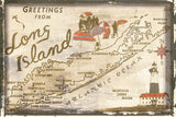 Greetings from Long Island -  Vintage Vacation - McGaw Graphics