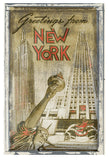 Greetings from New York -  Vintage Vacation - McGaw Graphics
