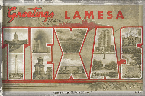 Texas Greetings -  Vintage Vacation - McGaw Graphics