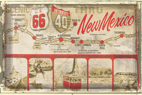 Scenic US 66 thru New Mexico -  Vintage Vacation - McGaw Graphics