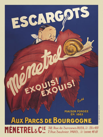 Escargots Menetrel -  Vintage Posters - McGaw Graphics