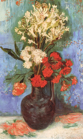 Vase with Carnations and Other Flowers, 1886 -  Vincent van Gogh - McGaw Graphics