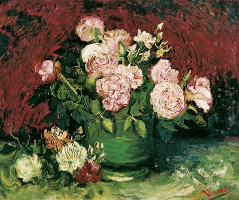 Roses and Peonies, 1886 -  Vincent van Gogh - McGaw Graphics
