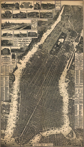 City of New York 1897 -  Vintage Reproduction - McGaw Graphics