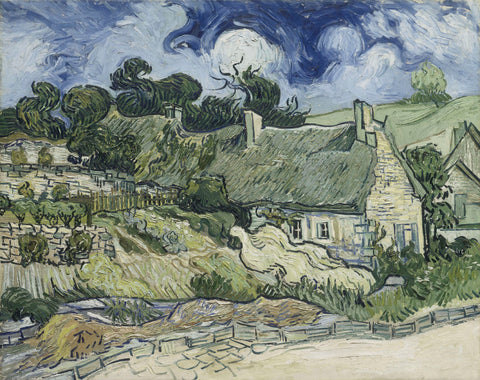 Vincent van Gogh - Thatched Cottages in Cordeville