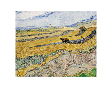 Enclosed Field with Ploughman -  Vincent van Gogh - McGaw Graphics
