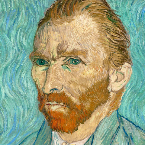 Self Portrait (detail) -  Vincent van Gogh - McGaw Graphics