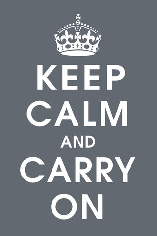 Keep Calm (charcoal) -  Vintage Reproduction - McGaw Graphics