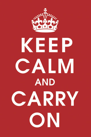 Vintage Reproduction - Keep Calm (Red)