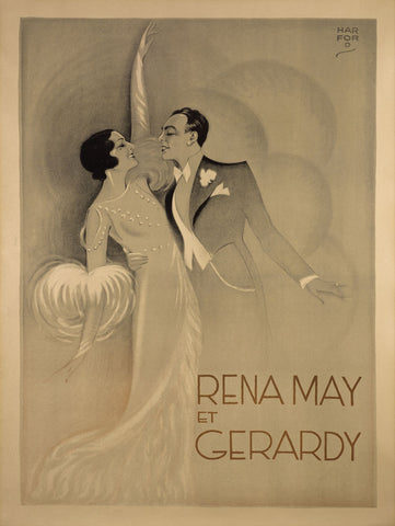 Vintage Posters - Rena May Et Gerardy