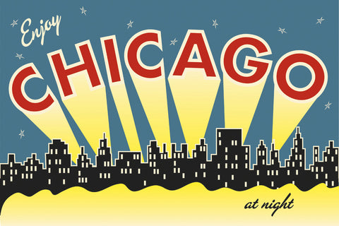 Vintage Reproduction - Chicago skyline