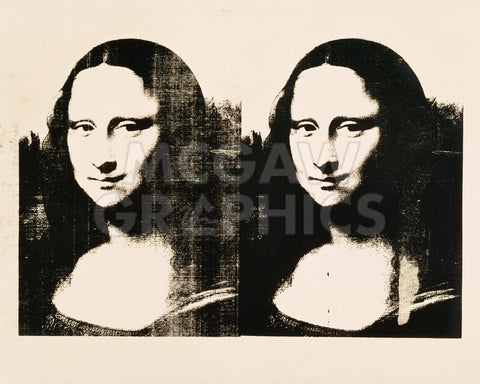 Double Mona Lisa, 1963 -  Andy Warhol - McGaw Graphics
