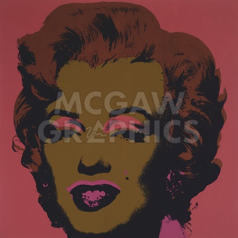 Marilyn Monroe (Marilyn), 1967  (on salmon) -  Andy Warhol - McGaw Graphics