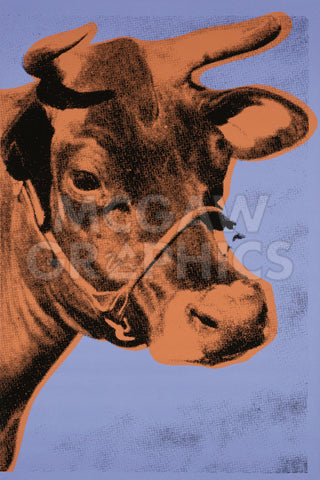 Andy Warhol - Cow, 1971 (purple & orange)