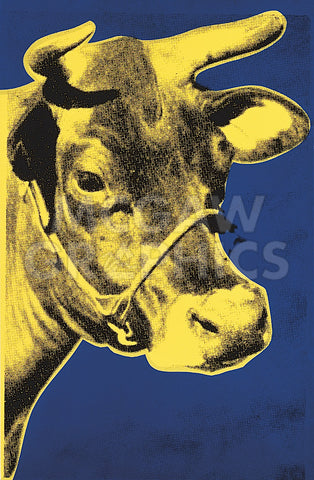 Andy Warhol - Cow, 1971 (blue & yellow)