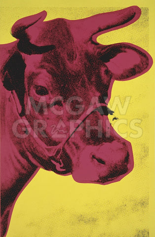 Cow, 1966 (yellow & pink) -  Andy Warhol - McGaw Graphics