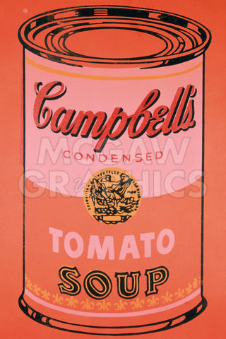 Andy Warhol - Campbell's Soup Can, 1965 (orange)