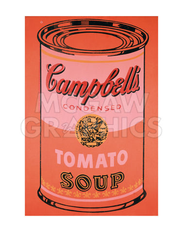 Campbell's Soup Can, 1965 (orange) -  Andy Warhol - McGaw Graphics