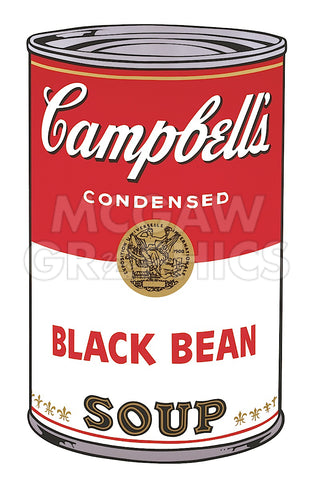 Andy Warhol - Campbell's Soup I:  Black Bean, 1968