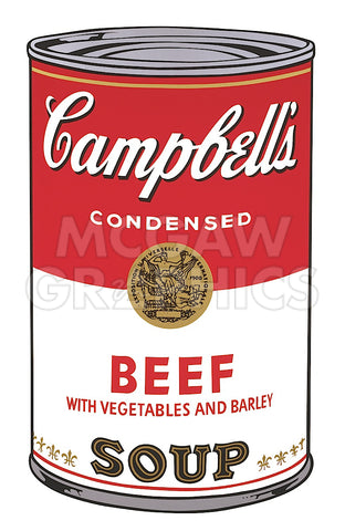 Andy Warhol - Campbell's Soup I:  Beef, 1968
