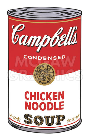 Andy Warhol - Campbell's Soup I:  Chicken Noodle, 1968