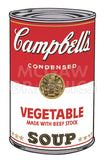 Campbell's Soup I:  Vegetable, 1968 -  Andy Warhol - McGaw Graphics