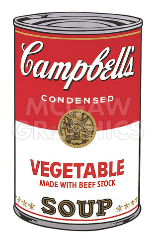 Andy Warhol - Campbell's Soup I:  Vegetable, 1968
