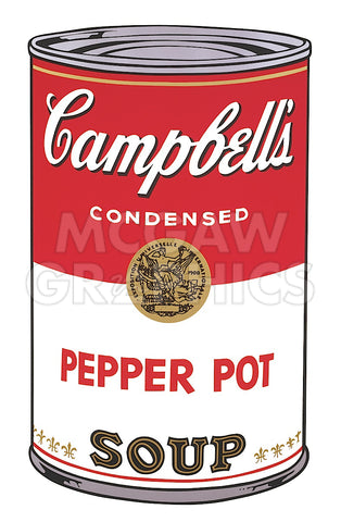 Andy Warhol - Campbell's Soup I:  Pepper Pot, 1968